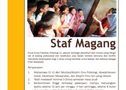 Job Vacancy – Staf Magang